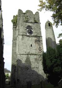 The round tower and medieval priest's tower at Swords, landmarks in the mid-seventeenth century and reminders of the long history of the largest centre in the north county.