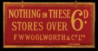 Woolworth's slogan during the interwar period. (3D and 6D Pictures Ltd)