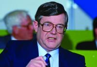 Ray Burke—in 1989, as minister for energy, he reduced the state's 50% share in its offshore oil and gas to zero; he also abolished royalties. (Victor Patterson)