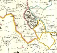The Down Survey map of Kilkenny and environs. (Trinity College, Dublin)