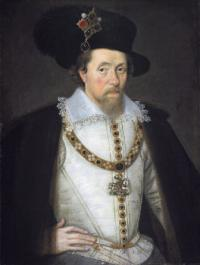 James I—his accession in 1603 set the scene for a major reorganisation of Ireland's urban network. (Scottish Portrait Gallery)