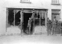 A Catholic-owned bicycle shop in Roslea, Co. Fermanagh, in the wake of the burning of the town by the Ulster Special Constabulary on 21 February 1921. (Mooney Collection, Michael McPhilips)