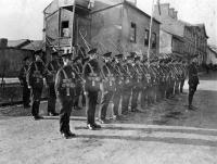 On parade in nearby Newtownbutler in 1922.(Mooney Collection, Michael McPhilips)