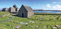 Iona, traditional burial place of Irish and Pictish saints and kings. How and why might Ecgfrith, the Saxon king of Northumbria, have been buried there amongst his sworn enemies? (Neilston Webcam Photo Gallery)