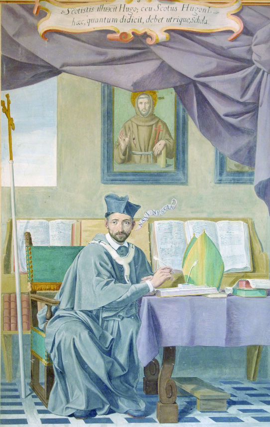 Aodh Mac Aingil OFM (d. 1626), guardian of St Anthony's College, Louvain, and archbishop of Armagh. (St Isidore's College, Rome, Foto Gioberti Studio)