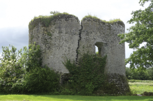 The ruin of Inchiquin Castle today, near Youghal, Co. Cork.