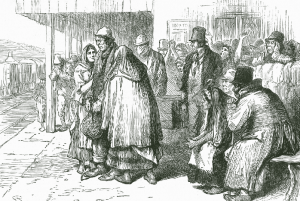 Above: The departure of Irish emigrants from Connacht. A similar project had been put into effect in 1881, when Revd James Nugent of Liverpool aided a number of Connemara families to settle in Minnesota. (Illustrated London News, 2 April 1881)