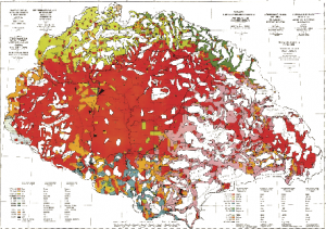 Above: The 'Red Map' prepared by Pál Teleki for the Paris negotiations shows the ethnic populations in the kingdom of Hungary based on figures for declared first spoken language in the 1910 census, which may have been biased in favour of Hungarians (shown in red).