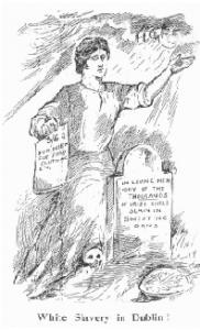 Above: 'White Slavery in Dublin'. (Irish Worker, 25 May 1912)