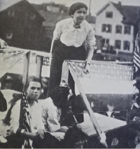 Elizabeth Gurley Flynn speaking in Paterson ('Silk City'), New Jersey, in May 1913.