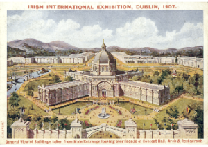 Postcard of the Irish International Exhibition held in Herbert Park in 1907, which Murphy helped to organise. (Stephanie Rains)