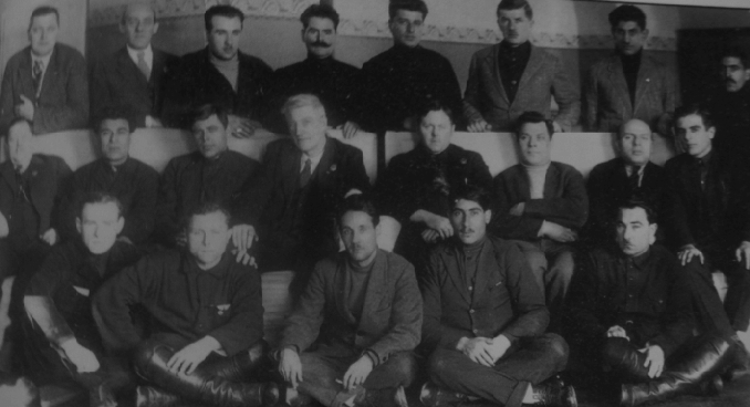 Above: Larkin with the Transcaucasus delegation at the seventh All-USSR Local Transport Congress, 1929. He broke with the Soviets soon after.