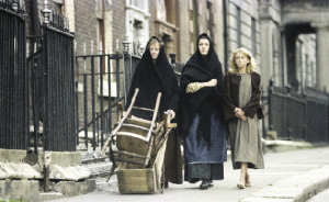 Henrietta Street served as the fictional setting of Chandler's Court. (All images: RTÉ Stills Library)
