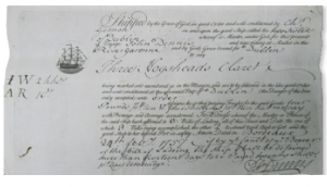 Bill of lading of the Two Sisters