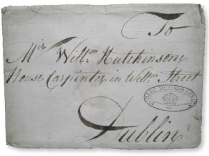 A letter to a Mr William Hutchinson, a house carpenter in William Street