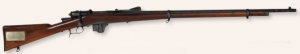 An Italian Vetterli-Vitali MI888 rifle with a UVF stamp on the butt (to the right of the brass plaque, left). It had the disadvantage of firing a rare 10.4mm-calibre bullet, which meant that there was never sufficient ammunition for them. (All images: National Museum of Ireland)