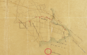 Extracts from 1815 maps of harbour development consultant John Rennie (1761–1821), the renowned Scottish civil engineer, showing Dalkey (above), then a small village, and the 'inclined plains' and possible rail routes (orange lines) for transporting rock quarried from Dalkey Common.