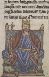 Henry II of England in Gerald's Conquest of Ireland, who says he possessed 'a familiarity with pretty well the whole outline of history, which he could readily draw on'. (NLI)