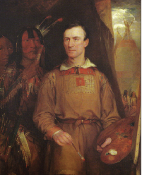 George Catlin by William Fisk, 1849. (National Portrait Gallery, Smithsonian Institute)