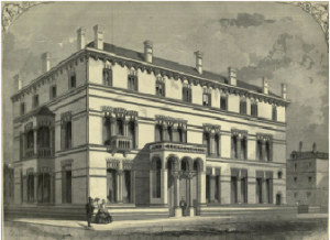 The Kildare Street Club in 1860—Redmond, a magistrate for County Wexford, was a member of the conservative club.