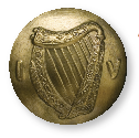 O'Duffy's Volunteer cap badge and button, designs used by the Irish Army since 1922. The letters 'FF' represented Fianna Fáil, the legendary first standing army of Ireland. (All images: National Museum of Ireland)