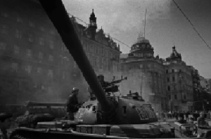 Above: A Soviet tank on the streets of Prague, 1968.  Western leaders feared a repeat in Warsaw in December 1980.