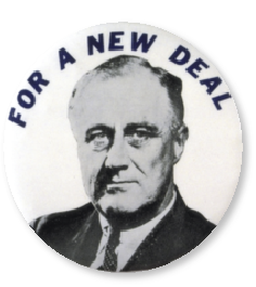 President Roosevelt had no problem in taking radical steps to ease the burden on ordinary people and imposing discipline on the banks as part of his New Deal.
