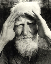 Above: George Bernard Shaw on the DMP in 1913: '. . . you may as well let loose in the streets a parcel of mad dogs as a parcel of policemen'. (London School of Economics)