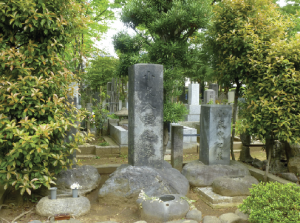 Above: 'A man of faith, an undefiled flower blooming like eight clouds, who dwells in the mansion of enlightenment'—Lafcadio Hearn's grave in Zoshigaya Cemetery, Tokyo