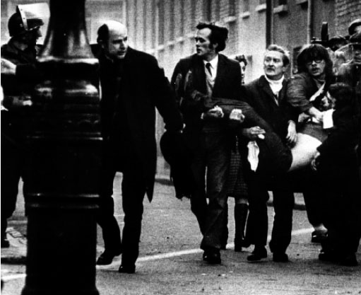 Derry's Bloody Sunday, 30 January 1972—described in 2010 by British Prime Minister David Cameron as 'unjustified and unjustifiable'. The unit responsible, 1 Para, was nicknamed 'Kitson's private army' and had a reputation even in the British Army for being thuggish. It was also involved in the killing and wounding of a large number of civilians in Ballymurphy in July 1971. (Stanley Matchett)
