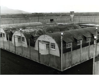 the 'cages' of Long Kesh. Kitson is a source for the persistence of the 'five techniques' of 'in-depth' interrogation used by the British Army at the time and in 1978 ruled as 'inhuman and degrading' by the European Court of Human Rights. (An Phoblacht)