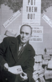 Seán MacBride during the general election of 1948. As Minister for External Affairs in 1950 he noted, in a memo to government, that 'tremendous scientific and technical developments have been taking place in industry in the last ten years, of which we have little knowledge. Our failure to make use of the Technical Assistance Programme [under Marshall Aid] is regrettable.' (Getty Images/Time Life Pictures)
