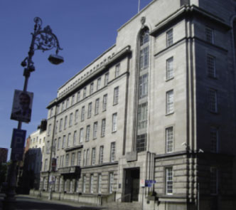 The Department of Industry and Commerce, Kildare Street. In 1961 the department introduced legislation to strengthen and expand the IIRS.