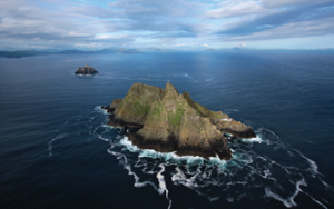 Above: Skellig Michael, off the coast of the Dingle peninsula, Co. Kerry—its hermit, Étgal, was taken for ransom by Viking raiders in 821, and died from hunger and thirst at their hands in 824. (Tourism Ireland)
