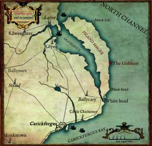 Island Magee map