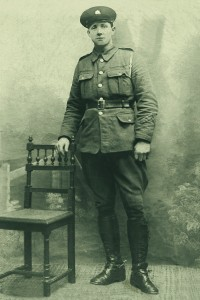 Gay Byrne's father, Edward, in uniform.