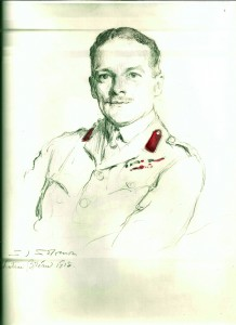 A 1918 sketch of Major J.A.F. Cuffe by Solomon J. Solomon.