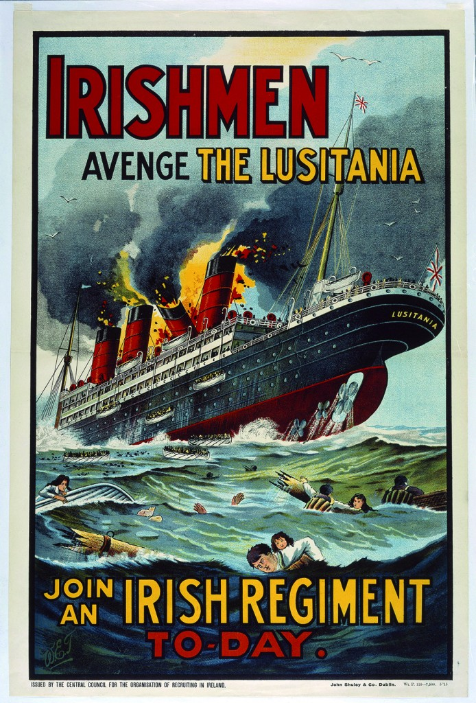 The nationalist rebellion that erupted in Dublin in April 1916 was as much of an event of the world war as the sinking of the Lusitania in 1915. (Trinity College, Dublin)