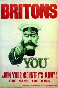 The instantly recognisable secretary for war, Field Marshal Herbert Horatio Kitchener, hailed from Ballylongford, Co. Kerry. With the original BEF effectively obliterated by the end of 1914, Lord Kitchener and the War Office would henceforth have to rely upon the 'New Army' amateurs then in training across the United Kingdom.
