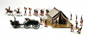 French toy soldiers brought back by Col. J. O'Scanlon. (NMI)