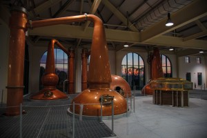 The new distillery features four handcrafted copper stills, modelled on the original pre-1954 Tullamore stills. (Jeff Harvey)