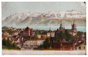 Lausanne, Switzerland—picture postcards brought the wider world into the home of this young, middle-class woman.