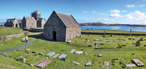 Iona, where Adomnán was abbot in the ninth century.