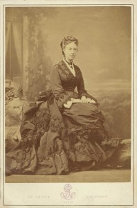 Abigail Woods in Paris, 1870. (Rhode Island Historical Society)