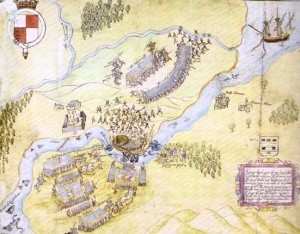 A contemporary map of its climax at the Battle of Beleek, 10 October 1593. (Tomás Ó Brogáin/British Library)