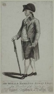 Archibald Hamilton Rowan escaped from gaol and fled the country. MacNally had provided the introduction. (NLI)