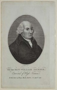 When the French agent Revd William Jackson was arrested in April 1794