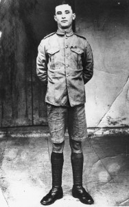 James Daly, leader of the Connaught Rangers' mutiny in Jullunder, Punjab, in June 1920, the only one of the 88 court-martialled mutineers to be executed. William Coman was one of the 59 given a fifteen-year sentence. Following an agreement between the British and Irish governments, Coman and the other jailed mutineers were released in December 1923.