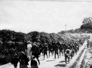 Members of Na Fianna marching to Bodenstown in 1912. (An Phoblacht)