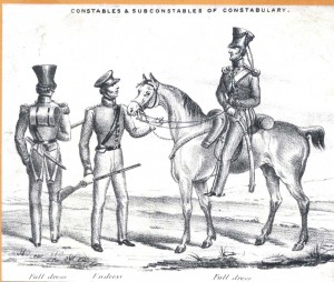 Irish Constabulary c. 1840s. In the 1841 census members of the constabulary were delegated to do the job of enumerator. But were they the best choice? (Garda Museum and Archives)